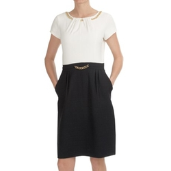 Ellen Tracy  - Ponte Boucle Dress