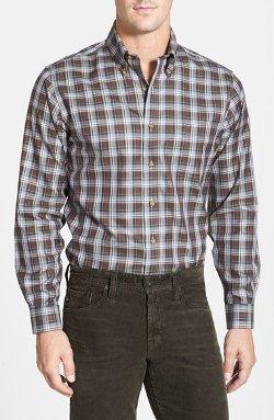 Brooks Brothers  - Slim Fit Plaid Twill Sport Shirt