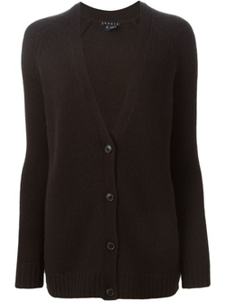 Theory - V-Neck Buttoned Cardigan Sweater