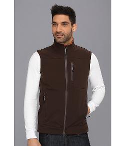 Roper  - Choc Br W/ Or Fleece Vest
