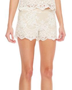 Alice + Olivia  - Scalloped Lace Shorts