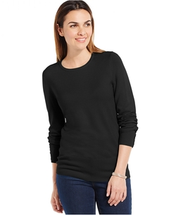 JM Collection - Crew-Neck Solid Sweater