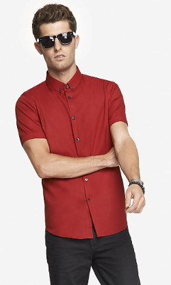 Express - Fitted Short Sleeve Shirt