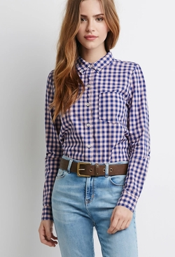 Forever 21 - Gingham Pocket Shirt