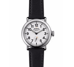 Shinola - Runwell Watch with Black Leather Strap