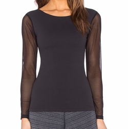 Beyond Yoga - Mesh Long Sleeve Top