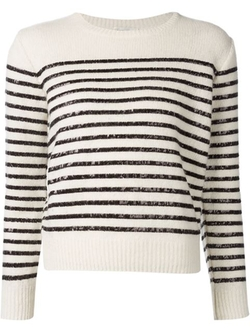 Saint Laurent - Sequin Striped Sweater