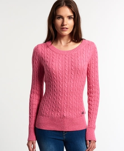 Superdry - Cable Crew Neck Sweater