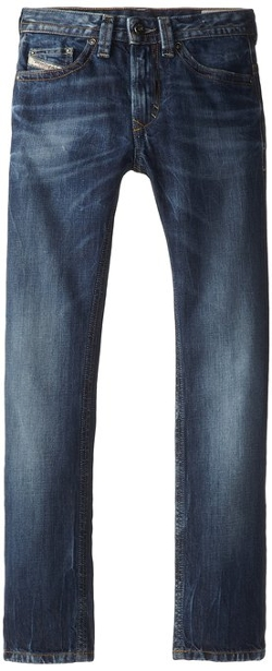Diesel - Thavar Slim Fit Skinny Leg Stonewashed Denim Pants
