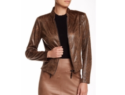 Insight  - Distressed Faux Leather Jacket