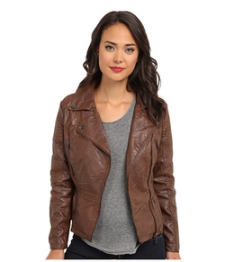 Dollhouse - Asymmetric Zip Leather Jacket