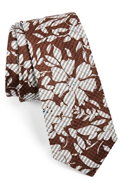 W.r.k - Floral Silk & Cotton Tie