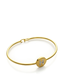 Sarah Chloe - Diamond Ella Initial Bangle