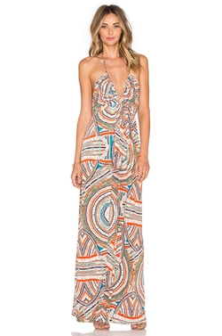 T-Bags Losangeles - V Neck Halter Maxi Dress