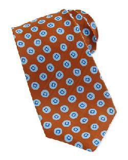 Kiton - Circle-Print Silk Tie