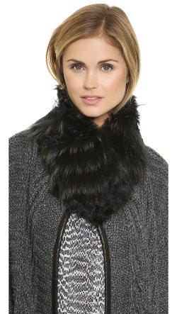 Adrienne Landau  - Fur Clip Scarf