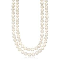 Ross-Simons - Cultured Pearl Two-Strand Necklace
