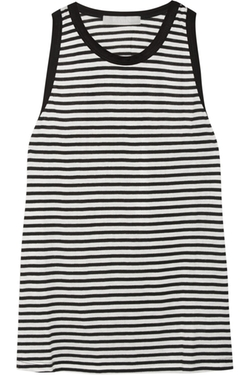 Kain - Carson Striped Stretch Cotton And Modal-Blend Tank Top