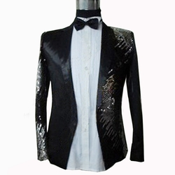 Ali Express - Sequins Glitter Embroidery Tuxedo Suit Jacket