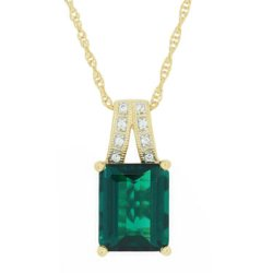 Necklace Length Guide - Emerald & Sapphire Pendant Necklace