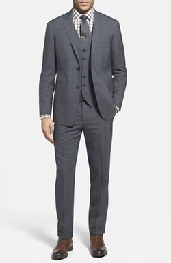 Todd Snyder White Label - Trim Fit Three Piece Plaid Wool Suit