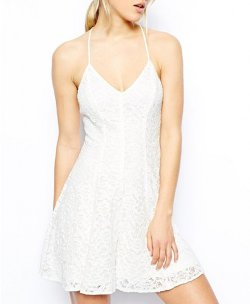 Chicnova - White Lace Cami Dress