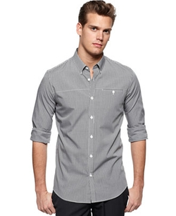 Calvin Klein - Core Mini-Checked Slim-Fit Shirt