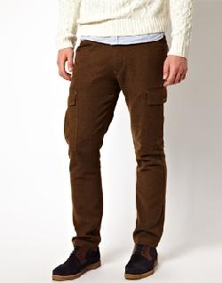 ASOS - Wool Chinos With Cargo Pocket