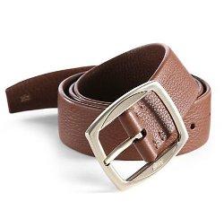 Brioni  - Pebbled Leather Belt