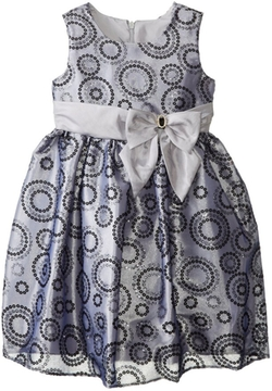 Jayne Copeland - Flocked Circle Organza Dress
