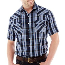 Ely Cattleman -  Short-Sleeve Plaid Snap Shirt