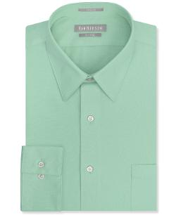 Van Heusen  - Fitted Solid Poplin Dress Shirt