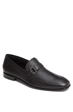 Salvatore Ferragamo  - Ruston Pebbled Leather Loafer