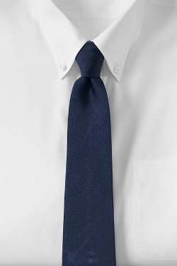 Lands End - Solid Silk Repp Necktie