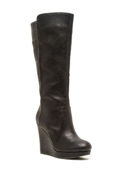 Qupid - Knee High Wedge Val Boot