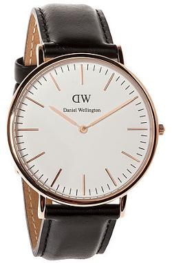 Daniel Wellington  - The Classic Sheffield Watch in Rose Gold