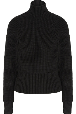 Victoria Beckham - Ribbed Cotton-Blend Turtleneck Sweater