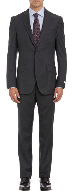 Richard James  - Micro-Pindot Sharkskin Two-Button Suit