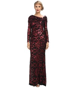 Badgley Mischka  - Lace Off The Shoulder Gown