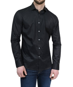 Stone Rose - Black Tonal Stripe Sport Shirt