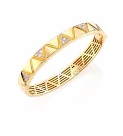 Marina B  - Triangoli Diamond Pave Bangle Bracelet