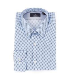 Hart Schaffner Marx  - Long-Sleeve Geo Print Woven Shirt