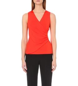 Armani Collezioni - Wrap-Style Jersey Top