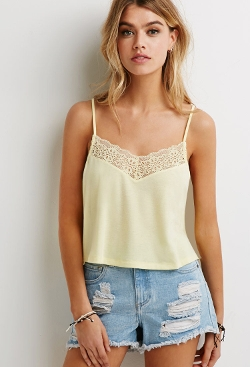 Forever 21 - Ornate Lace-Trimmed Camisole