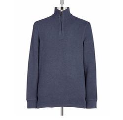Black Brown 1826  - Quarter-Zip Cotton Sweater