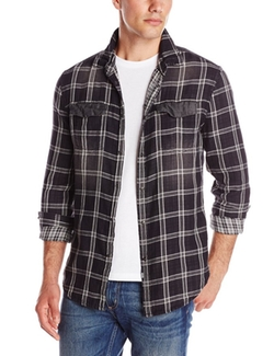 Calvin Klein Jeans - Double-Faced Plaid Shirt