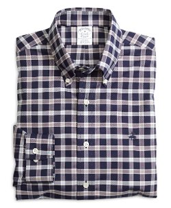 Brooks Brothers - Non-Iron Slim Fit Navy Check Sport Shirt