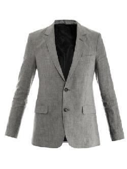 AMI - Dogtooth check linen jacket