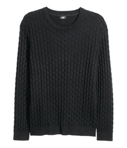 H&M - Textured-Knit Sweater