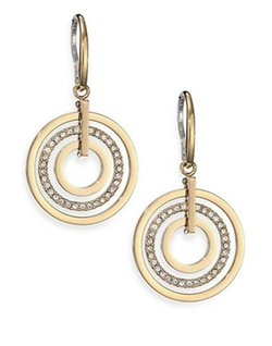 Michael Kors - Brilliance Statement Pavé Nested Circle Drop Earrings
